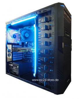 GTX 1070 Power PC24 Gamer PC Sharkoon T9 Value Blau +0,-€