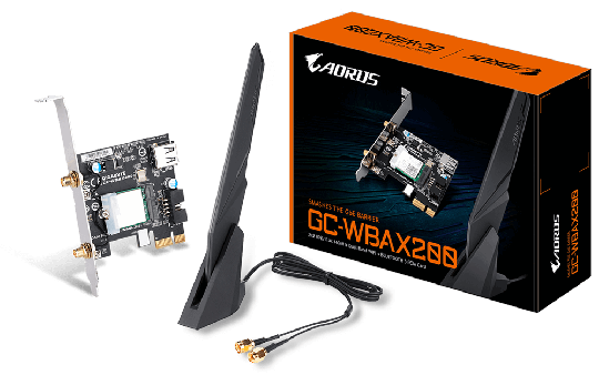 2400MBit/s GC-WBAX200 Bluetooth & W-LAN Adapter in Einem