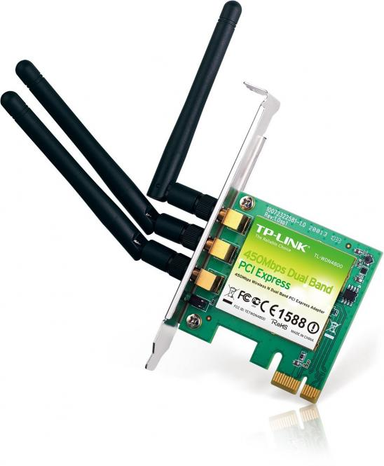 450MBit/s TL-WDN4800 WLAN PCI-E Adapter